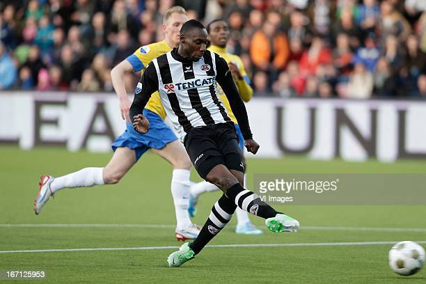 Geoffrey Castillion of Heracles Almelo during the Eredivisie match between Heracles Almelo and RKC Waalwijk on April 20 2013 at the Polman stadium at...