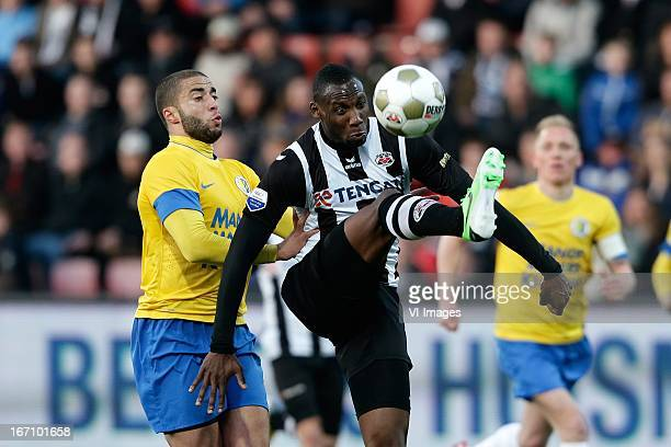 Geoffrey Castillion of Heracles Almelo Guy Ramos of RKC Waalwijk during the Eredivisie match between Heracles Almelo and RKC Waalwijk on April 20...