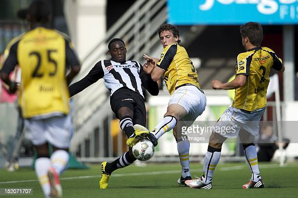 Geoffrey Castillion of Heracles AlmeloEric Botteghin of NAC Breda during the Dutch Eredisivie match between Heracles Almelo and NAC Breda at the...