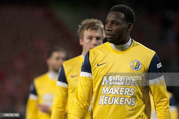 Geoffrey Castillion of RKC Waalwijk during the Dutch Cup match between SC Heracles Almelo and RKC Waalwijk at Polman Stadium on February 1 2012 in...