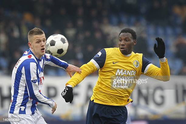 Geoffrey Castillion of RKC Waalwijk during the Dutch Eredivisie match between RKC Waalwijk and SC Heerenveen at Mandemakers Stadium on February 12...
