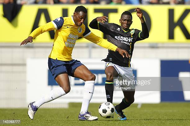 Geoffrey Castillion of RKC WaalwijkKenneth Omeruo of ADO Den Haag during the Dutch Eredivisie match between RKC Waalwijk and ADO Den Haag at...