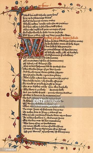 Geoffrey Chaucer English poet Page of the Lansdowne manuscript of his Canterbury Tales relating part of the Friar's Tale