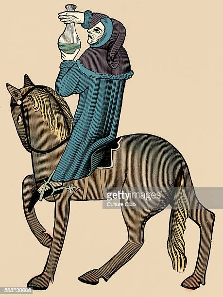 Geoffrey Chaucer s Canterbury Tales The Doctor of Physic on horseback English poet c 13431400 Ellesmere mauscript of Canterbury Tales