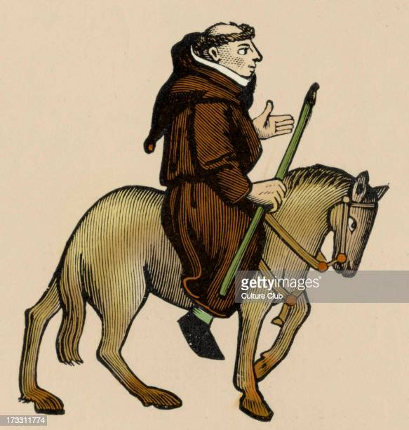 Geoffrey Chaucer ' s Canterbury Tales The Friar on horseback English poet c 13431400 Ellesmere manuscript of Canterbury Tales