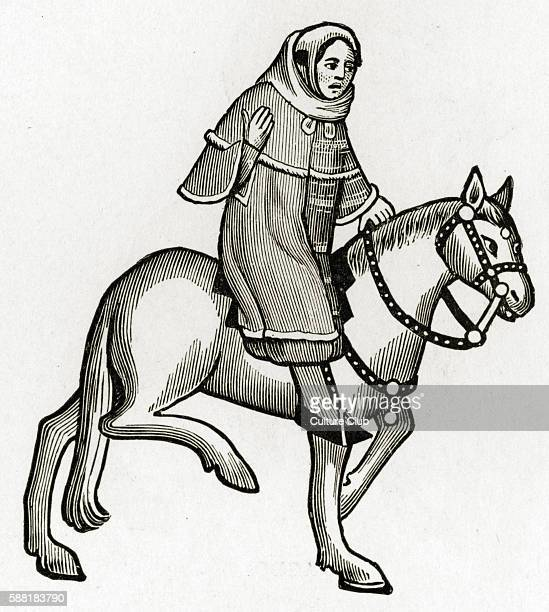 Geoffrey Chaucer s Canterbury Tales The Man of Law on horseback English poet c 13431400 Ellesmere manuscript of Canterbury Tales