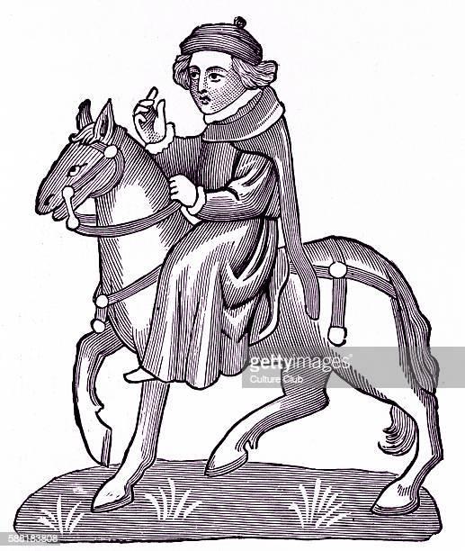Geoffrey Chaucer s Canterbury Tales The Nun s Priest on horseback English poet c 13431400Ellesmere manuscript of Canterbury Tales