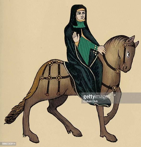 Geoffrey Chaucer s Canterbury Tales The Prioress on horseback English poet c 13431400 Ellesmere manuscript of Canterbury Tales