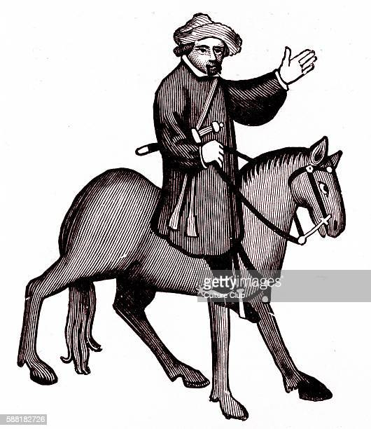 Geoffrey Chaucer s Canterbury Tales The Shipman on horseback English poet c 13431400 Ellesmere manuscript of Canterbury Tales