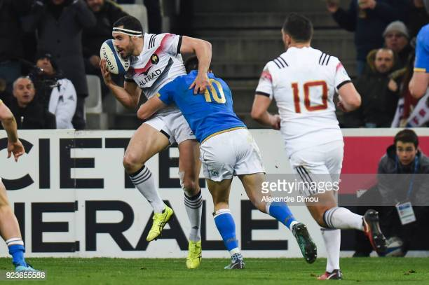 Geoffrey Doumayrou of France during the NatWest Six Nations match between France and Italy at Stade Velodrome on February 23 2018 in Marseille France