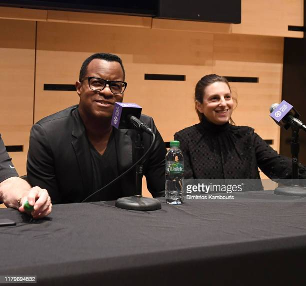 Geoffrey Fletcher and Gillian Robespierre attend 57th New York Film Festival NYFF Live WGA Talk at Elinor Bunin Munroe Film Center on October 07 2019...