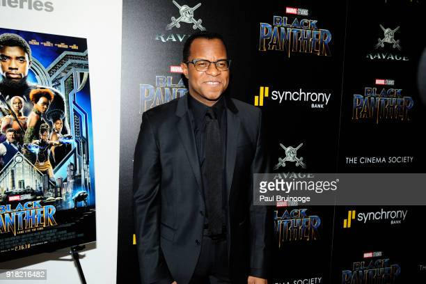 Geoffrey Fletcher attends The Cinema Society with Ravage Wines Synchrony host a screening of Marvel Studios' 'Black Panther' at The Museum of Modern...