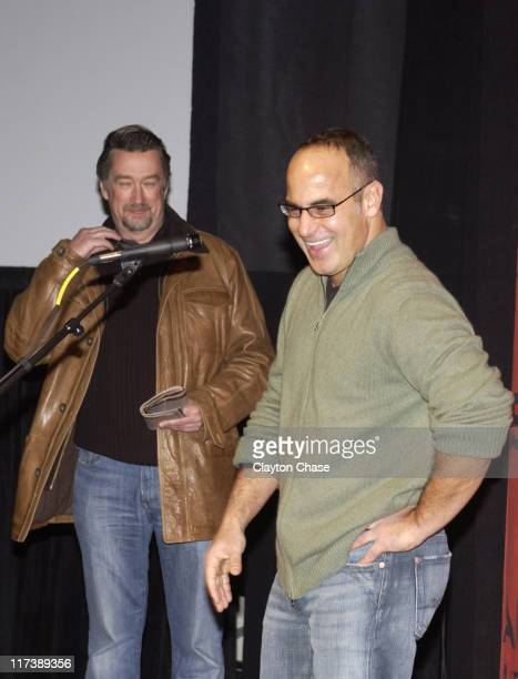 Geoffrey Gilmore and Andrew Wagner director during 2007 Sundance Film Festival Starting Out in the Evening Premiere at Racquet Club in Park City Utah...