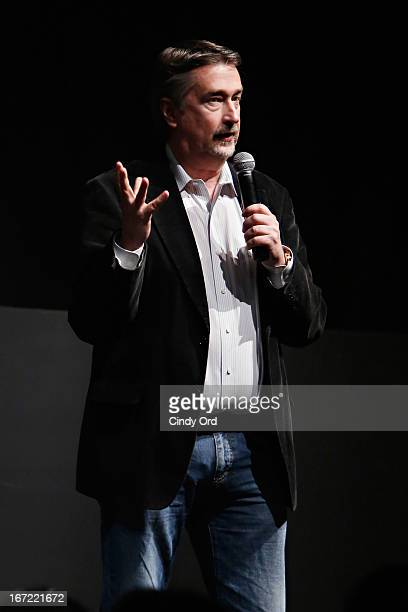 Geoffrey Gilmore Chief Creative Officer Tribeca Enterprises speaks during Tribeca Talks Directors Series Richard Linklater with Ethan Hawke and Julie...
