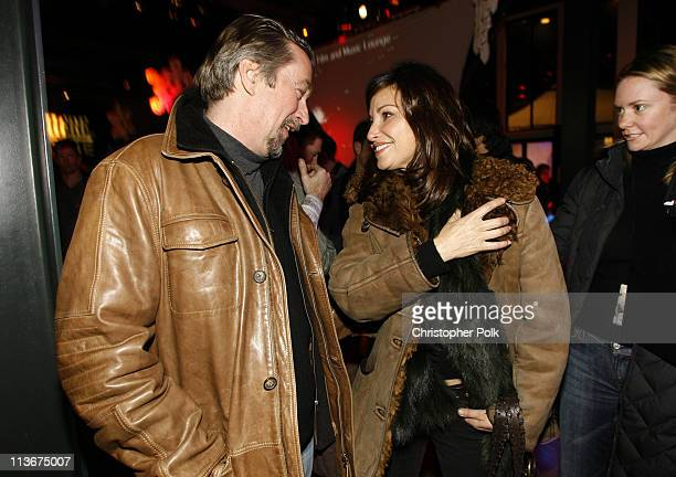 Geoffrey Gilmore Director of Sundance Film Festival and Gina Gershon