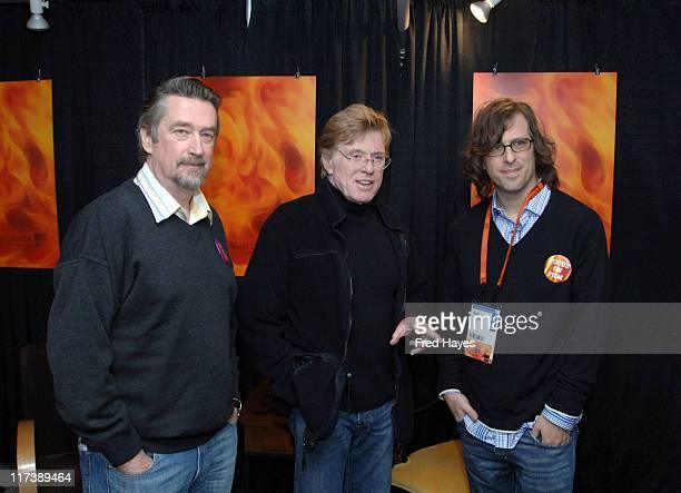 Geoffrey Gilmore Director of Sundance Film Festival Robert Redford President and Founder of Sundance Institute and Brett Morgen director of Chicago 10