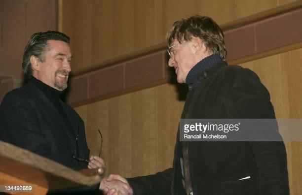 Geoffrey Gilmore President of the Sundance Film Festival and Robert Redford
