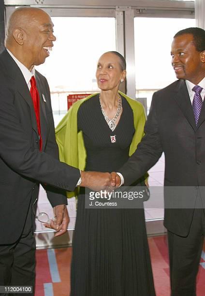 Geoffrey Holder Carmen Holder and His Majesty King Mswati III