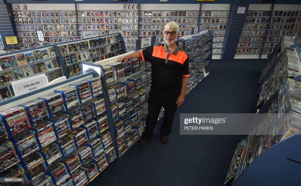 Geoffrey Hooper Poses For A Photograph In His Dvd Store In The Western Sydney Suburb Of
