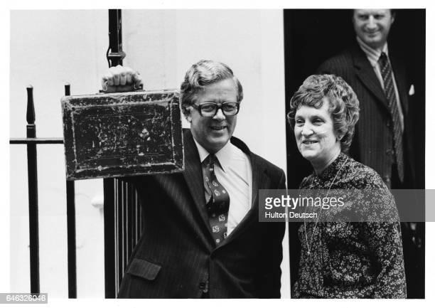 Geoffrey Howe with Budget Box