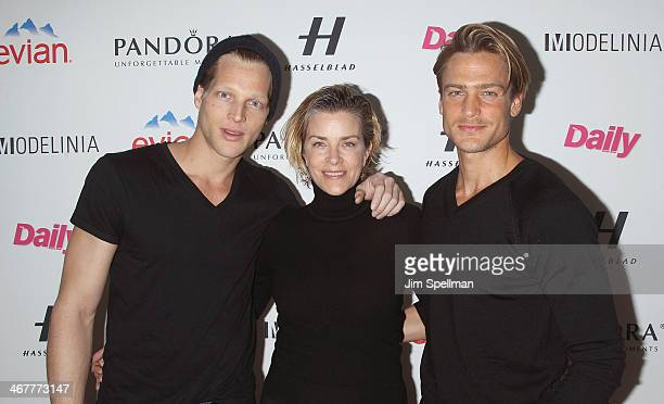 Geoffrey J Sarah HamiltonBailey and Jason Morgan attend The Daily Modelinia Present The Models Issue Party at Harlow on February 7 2014 in New York...