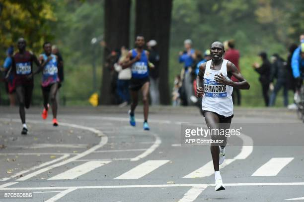 Geoffrey Kamworor of Kenya competes to win the Men's Division during the 2017 TCS New York City Marathon in New York on November 5 2017 Five days...