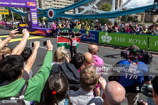 Geoffrey Kipkorir Kirui won IAAF World Championships Man Marathon in London UK on August 6 2017 42 kilometre run took place in most picturesque...