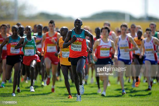 Geoffrey Kipsang Kamworor of Kenya on his way to gold in the Junior Men's race during the 39th Iaaf World Cross Country Championships March 20 2011...