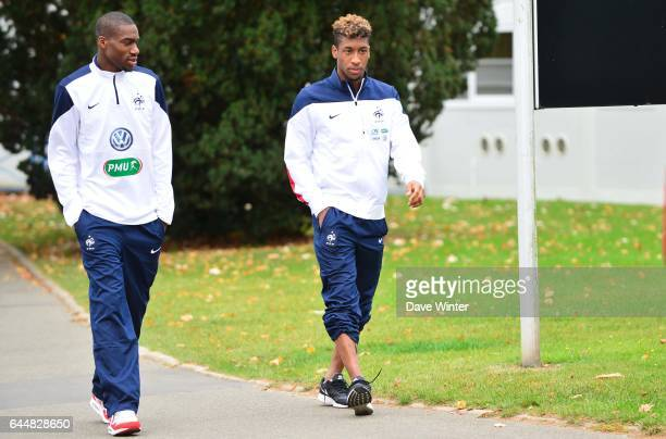 Geoffrey KONDOGBIA / Kingsley COMAN Entrainement Equipe de France Espoirs Clairefontaine Photo Dave Winter / Icon Sport