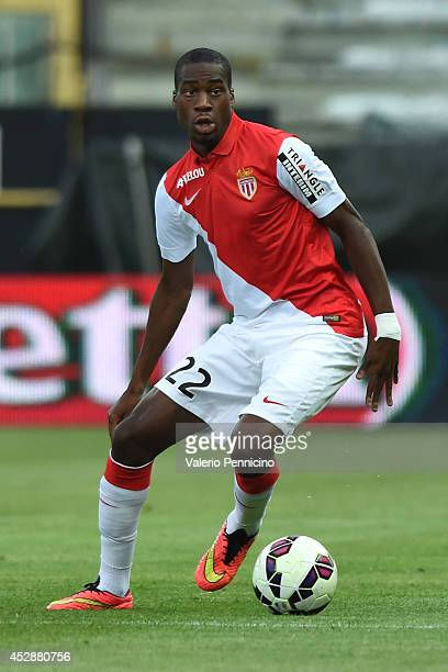 Geoffrey Kondogbia of AS Monaco FC in action during the preseason friendly match between FC Parma and AS Monaco FC at Stadio Ennio Tardini on July 28...
