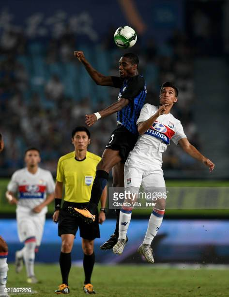 Geoffrey Kondogbia of FC Internazionale in action during the 2017 International Champions Cup match between FC Internazionale and Olympique Lyonnais...