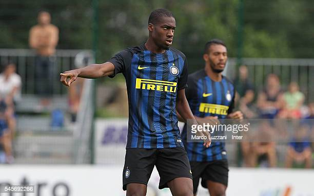 Geoffrey Kondogbia of FC Internazionale Milano gestures during day Four of the FC Internazionale training camp on July 9 2016 in Bruneck Italy