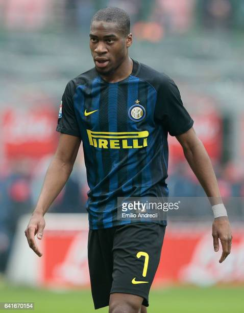 Geoffrey Kondogbia of FC Internazionale Milano looks on during the Serie A match between FC Internazionale and Empoli FC at Stadio Giuseppe Meazza on...