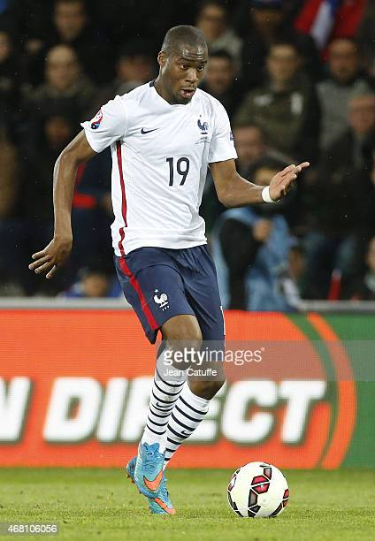 Geoffrey Kondogbia of France in action during the international friendly match between France and Denmark at Stade GeoffroyGuichard on March 29 2015...