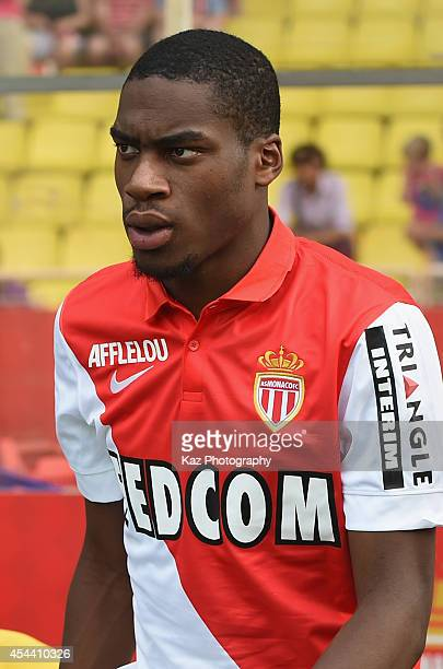 Geoffrey Kondogbia of Monaco is seen prior to the French Ligue 1 match between AS Monaco FC and LOSC Lille at Louis II Stadium on August 30 2014 in...