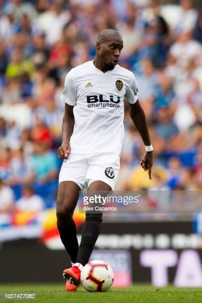Geoffrey Kondogbia of Valencia CF conducts the ball during the La Liga match between RCD Espanyol and Valencia CF at RCDE Stadium on August 26 2018...