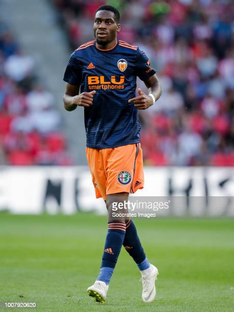 Geoffrey Kondogbia of Valencia CF during the Club Friendly match between PSV v Valencia at the Philips Stadium on July 28 2018 in Eindhoven...