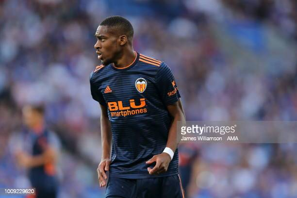 Geoffrey Kondogbia of Valencia during the PreSeason Friendly between Leicester City and Valencia at The King Power Stadium on August 1 2018 in...