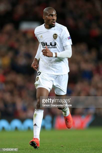 Geoffrey Kondogbia of Valencia in action during the Group H match of the UEFA Champions League between Manchester United and Valencia at Old Trafford...