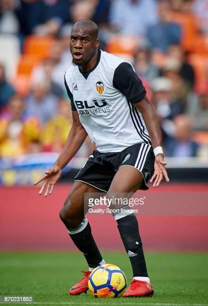 Geoffrey Kondogbia of Valencia in action during the La Liga match between Valencia and Leganes at Mestalla Stadium on November 4 2017 in Valencia...