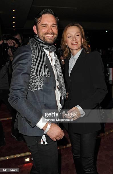 Geoffrey Kurz and Katja Flint attend the CNN Journalist Award 2012 at the GOP Variete Theater on March 27, 2012 in Munich, Germany.