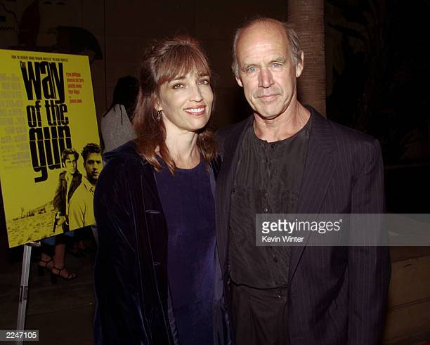 Geoffrey Lewis and his wife Paula at the premiere of 'The Way of the Gun' at the Egyptian Theater in Hollywood Ca 8/29/00Photo Kevin Winter/Getty...