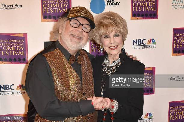 Geoffrey Mark and Karen Sharpe Kramer attend The Inaugural Palm Springs International Comedy Festival Dinner Gala at Hotel Zoso on November 10 2018...