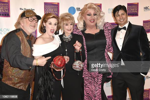 Geoffrey Mark Kat Kramer Karen Sharpe Kramer Tommi Rose and Paul Cruz attend The Inaugural Palm Springs International Comedy Festival Dinner Gala at...