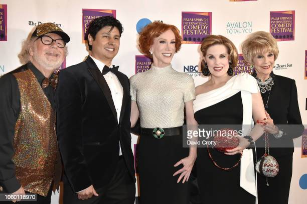 Geoffrey Mark Paul Cruz Kathy Griffin Kat Kramer and Karen Sharpe Kramer attend The Inaugural Palm Springs International Comedy Festival Dinner Gala...