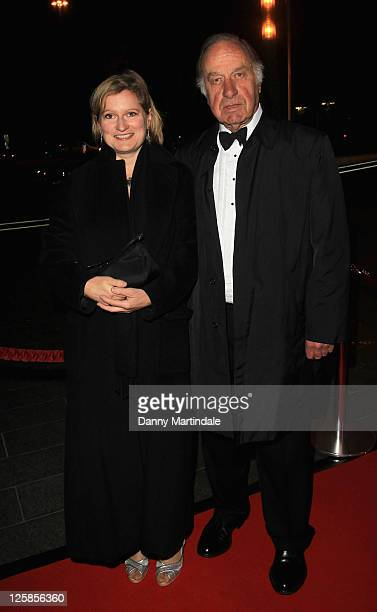 Geoffrey Palmer and guest attend the Chickenshed Gala at Park Plaza Westminster Bridge Hotel on November 8 2010 in London England