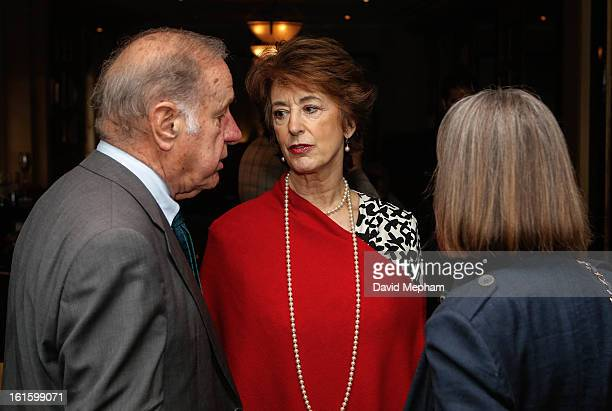 Geoffrey Palmer and Maureen Lipman attend the Oldie of the Year Awards at Simpsons in the Strand on February 12 2013 in London England