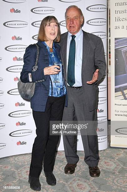 Geoffrey Palmer and Sally Green attends the Oldie of the Year Awards at Simpsons in the Strand on February 12 2013 in London England