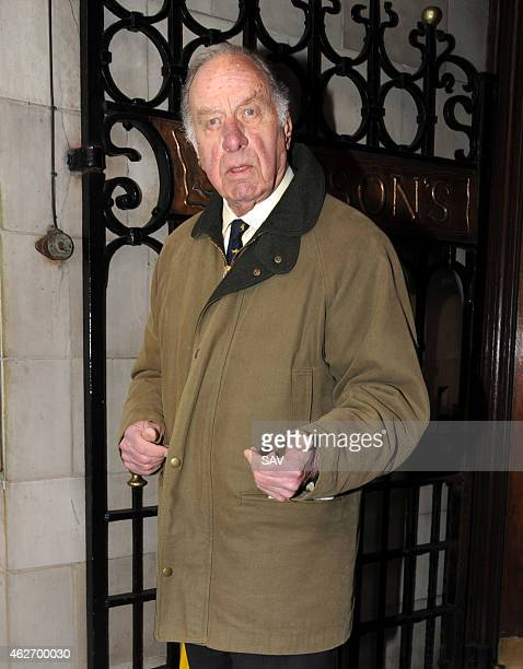 Geoffrey Palmer arriving at The Oldie Awards at Simpsons on the Strand on February 3 2015 in London England