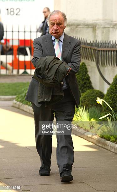 Geoffrey Palmer attends the memorial service for Paul Scofield at Westminster Abbey on March 19 2009 in London England